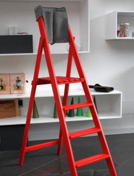 HOME rossa 4 gradini pieghevole