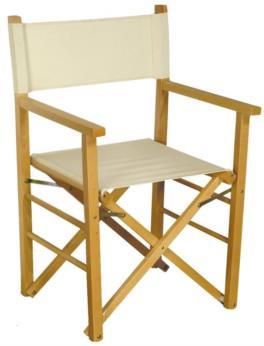 Sedia pieghevole in legno Montecarlo