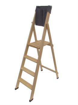 scala portatile in legno Home 4 gradini