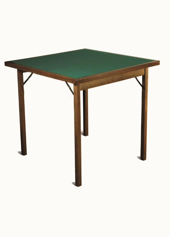 Tavolo da gioco quadrato in legno