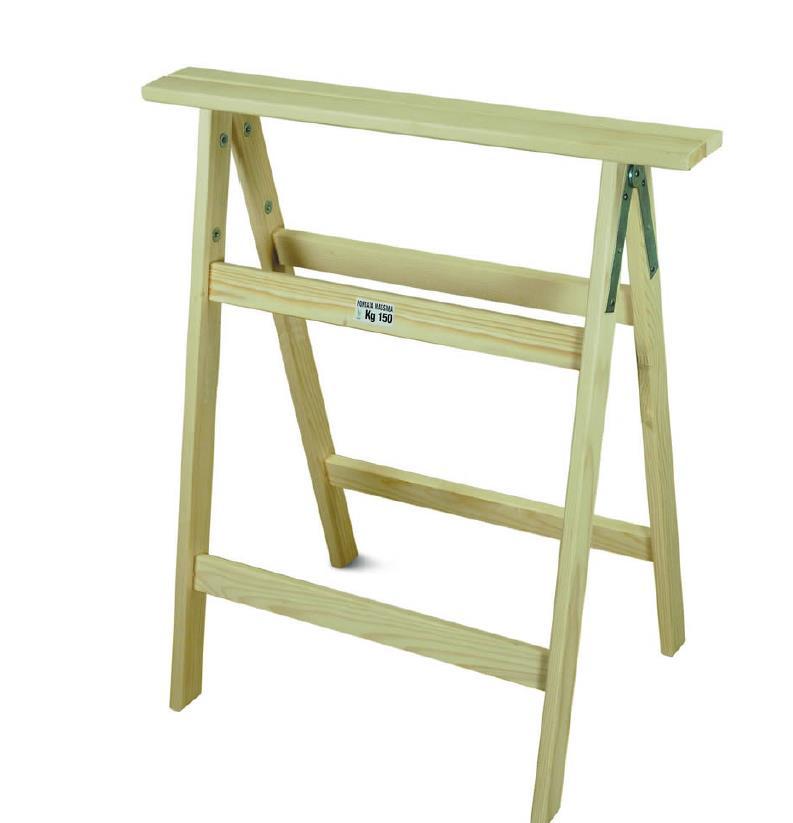 Cavalletto a 3 piani in legno di faggio