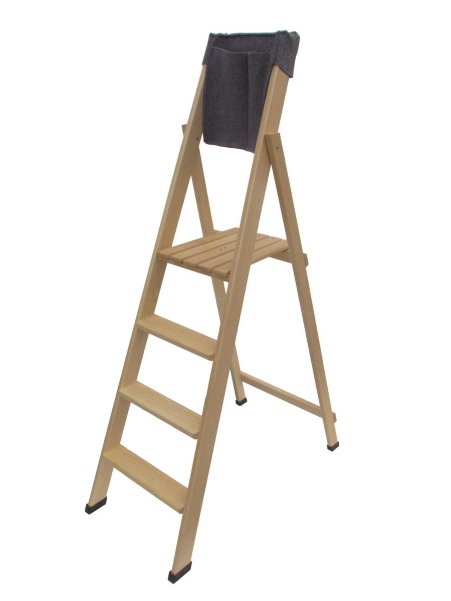 scala in legno HOME 4 gradini di Del Fabbro