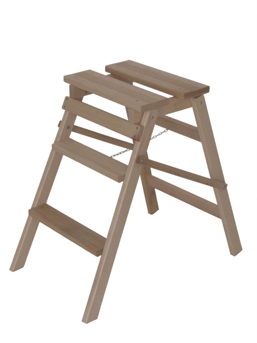 scaletta in legno HELPY 3 gradini di Del Fabbro
