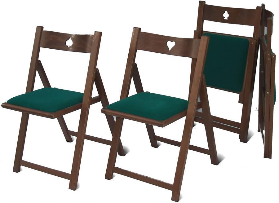 sedie pieghevoli in legno GIOCO di Del Fabbro